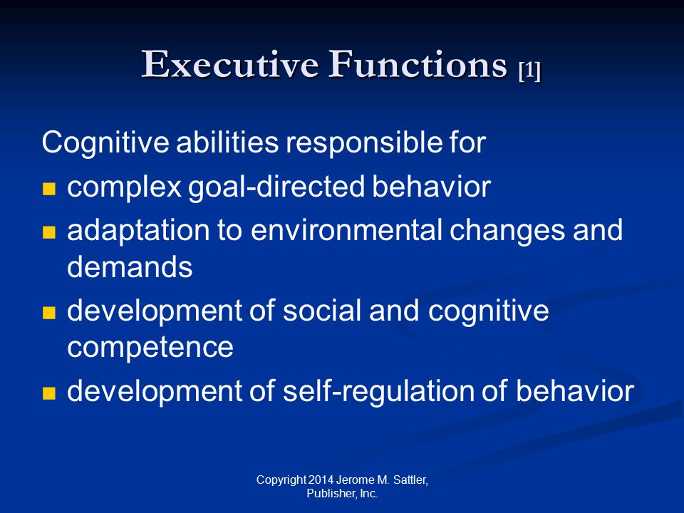 Executive Functions [1]